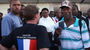 Des membres du Centre de crise et de soutien en action à l'étranger.