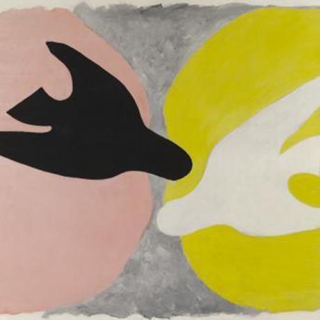 """""""L'oiseau noir et l'oiseau blanc"""", Georges Braque, 1960."""