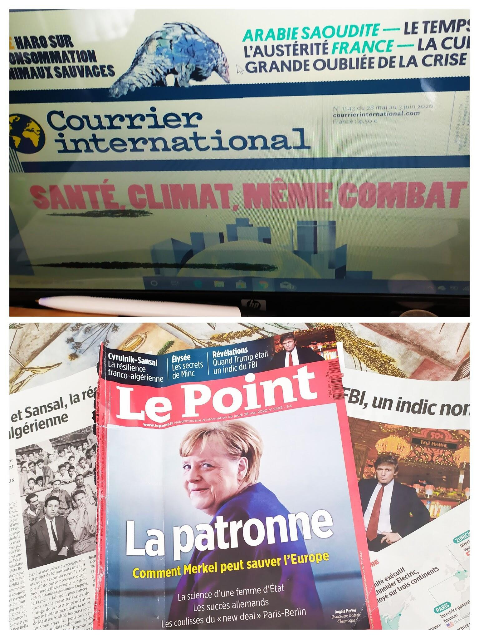Relações tensas entre Paris e Argel ou Merkel, Patroa da Europa, Trump, máfia e as presidenciais