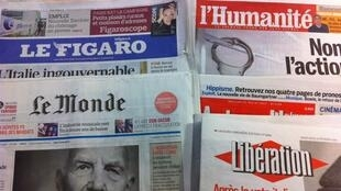 Primeiras páginas diários franceses 27/2/2013