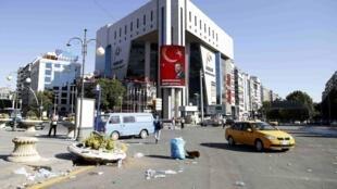 Le portrait du président Erdogan est affiché sur cet immeuble à Ankara, le 16 juillet 2016.