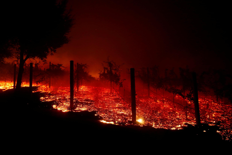 Imagens do fogo a 9 de Novembro de 2018.