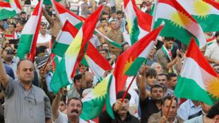Сторонники референдума в иракском Курдистане, Киркук, 11 сентября 2017.