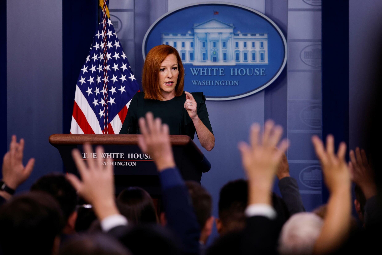 美国白宫新闻发言人珍‧普萨基资料图片