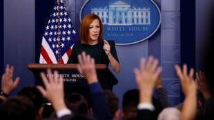 美國白宮新聞發言人珍‧普薩基資料圖片