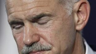 Under pressure - Greek Prime Minister George Papandreou