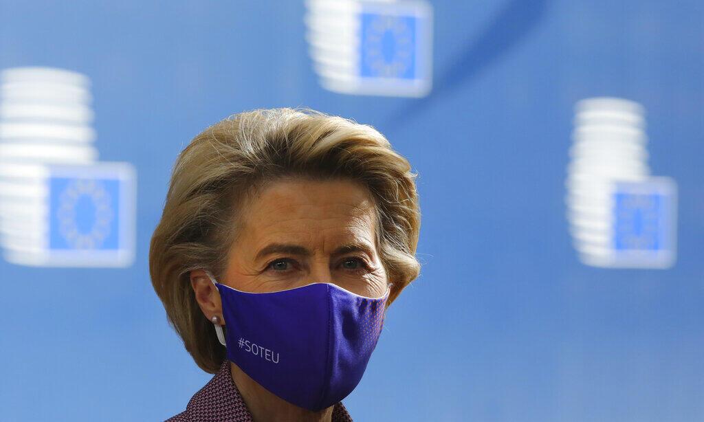 Presidente da Comissão Europeia,Ursula von der Leyen, em foto de 16/10/2020. Europa ultrapassou os 250.000 mortos por Covid-19 em 18/10/2020.