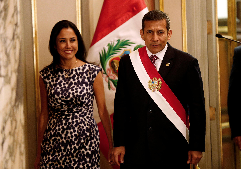 Nadine Heredia y Ollanta Humala, en febrero de 2014.