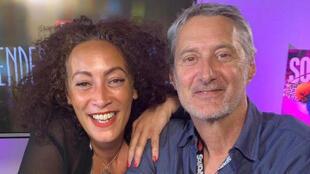 Juliette Fievet et Antoine de Caunes.