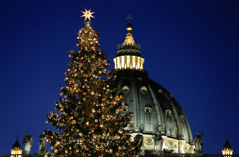 Традиционная ель в Ватикане