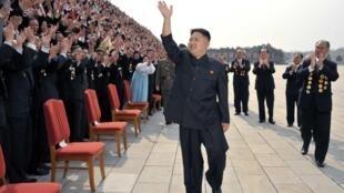 Lãnh đạo Bắc Triều Tiên Kim Jong un. Ảnh chụp tại Bình Nhưỡng, ngày 19/04/2012