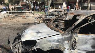Carro-bomba em Damasco, na Síria.