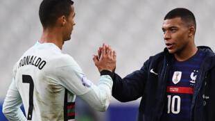 Cristiano Ronaldo e Kylian Mbappé