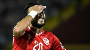 Le Tunisien Ghailene Chaalali lors de la CAN 2019.