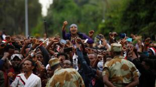 Rassemblement Oromo en Ethiopie, le 2 octobre 2016.