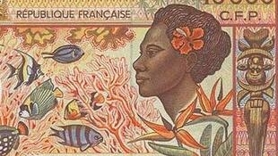 Detail of the current 1,000 franc note