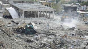 叙利亚官方通讯社公布的以色列空袭照片