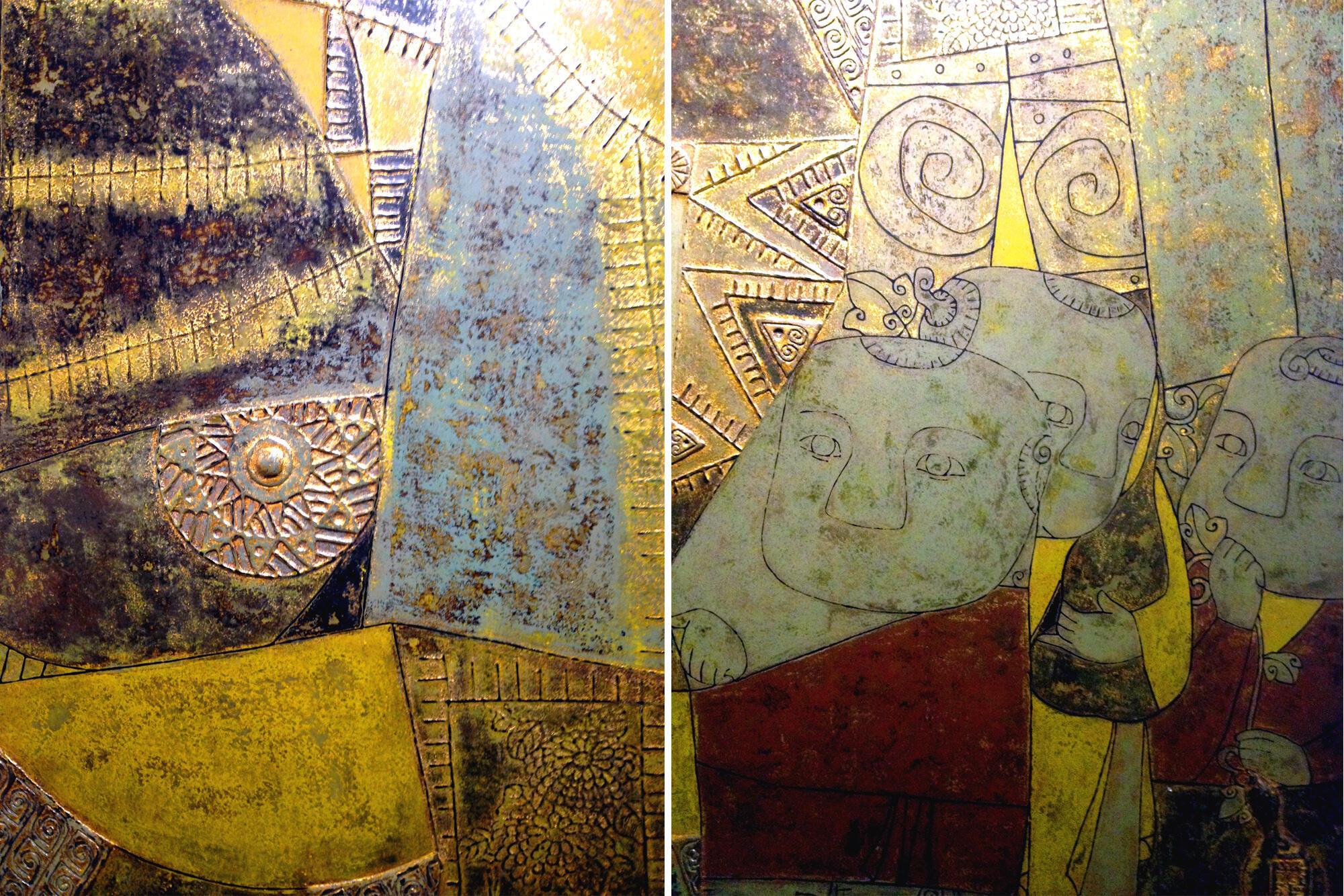 Hai tác phẩm của Mai Đắc Linh tại phòng triển lãm Victoria (DR)