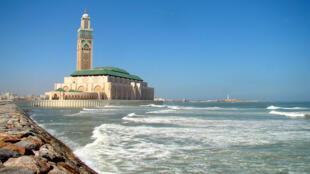 The Hassan II Mosque in Casablanca