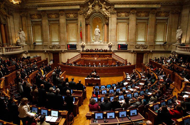 Le Parlement portugais lors de la séance à Lisbonne, le 10 mars 2011.