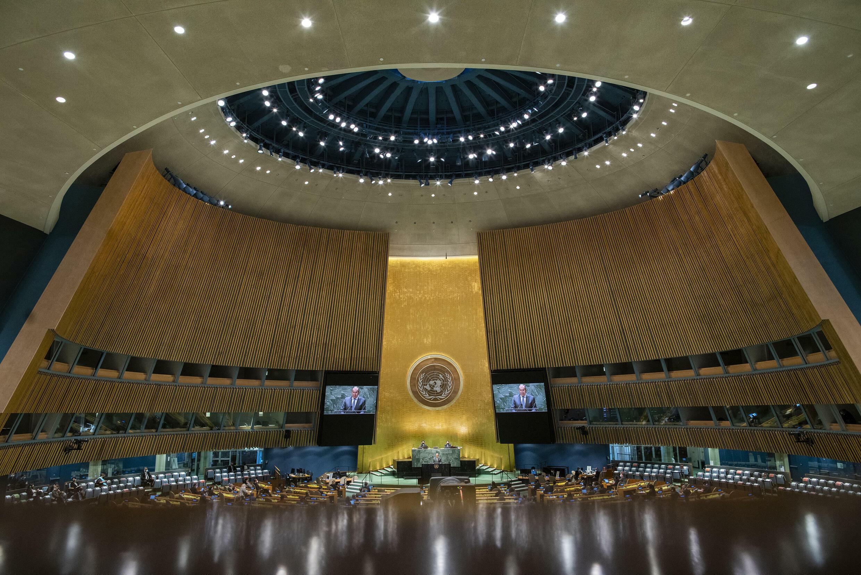 联合国大会第76届现场,摄于9月27日纽约。