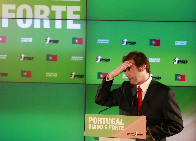 O líder do PDS, Pedro Passos Coelho