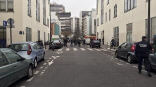 The scene outside Charlie Hebdo's offices after the attack
