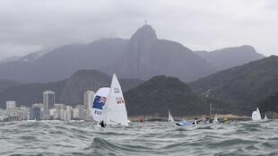 Sailing training at Marina da Gloria, Copacabana in Rio de Janeiro on 3 August, 2016