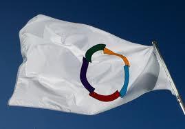 Le drapeau de la francophoie.