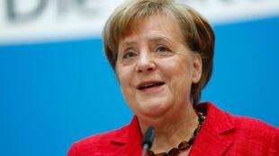 3月5日,德國總理默克爾就組建大聯合政府開啟新任期發表聲明。