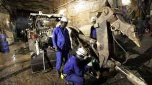 Arlit, la mine d'uranium exploitée par la société française Areva, au Niger.