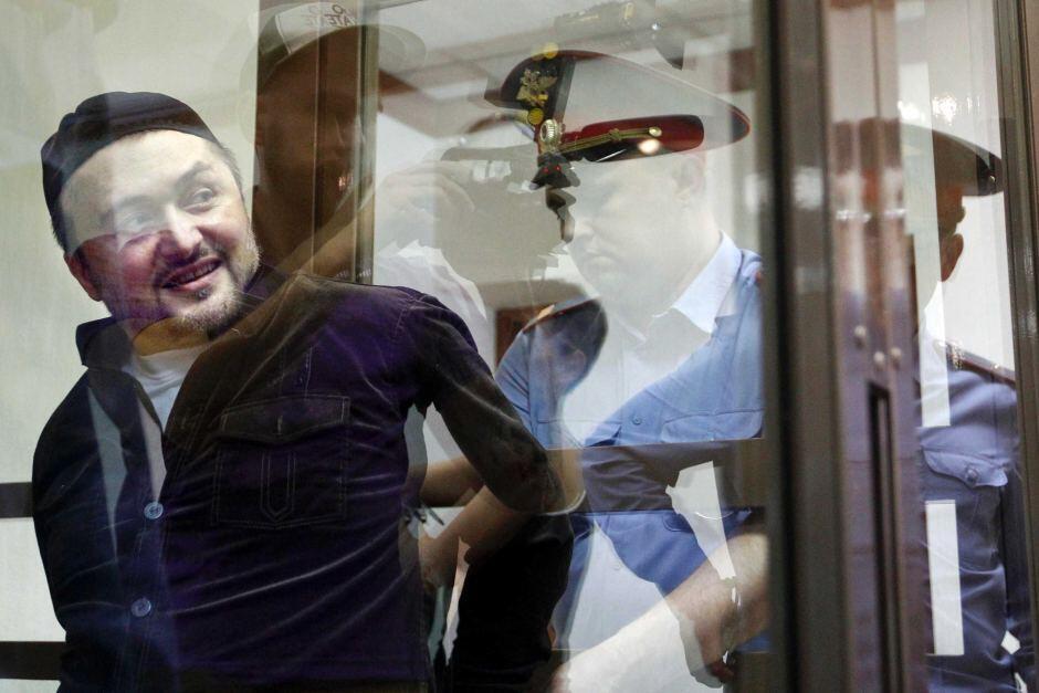 Рустам Махмудов, предполагаемый непосредственный исполнитель убийства Анны Политковской, в зале суда