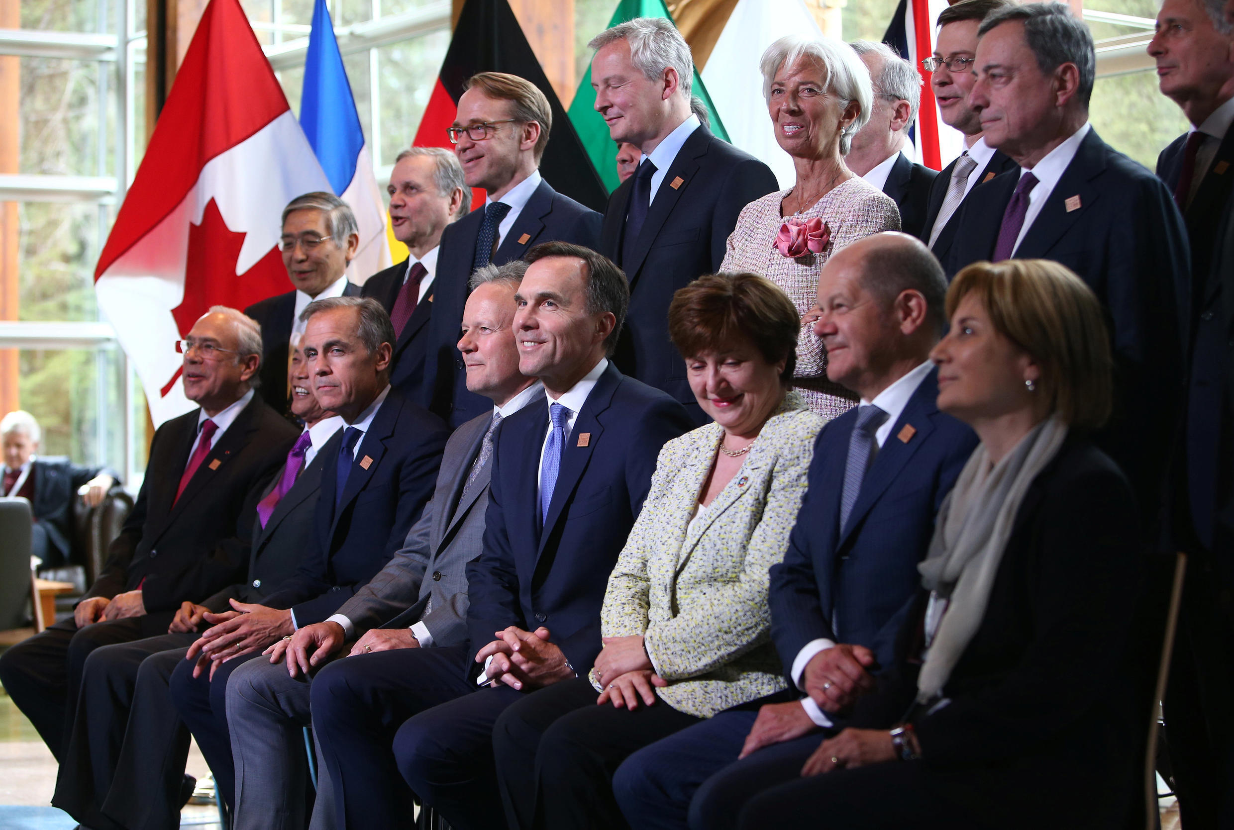 The G7 finance ministers at the summit in Whistler, British Columbia, Canada