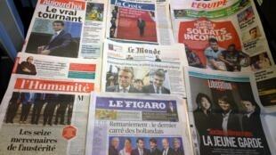 Diários franceses 27/08/2014