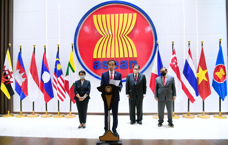 4月24日印尼總統佐科威在東盟領導人峰會致辭