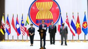 4月24日印尼总统佐科威在东盟领导人峰会致辞