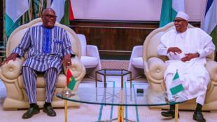Shugaban Najeriya Muhammadu Buhari da takwaransa na Burkina Faso Roch Marc Christian Kabore