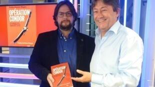 Pablo Magee con Jordi Batallé en RFI