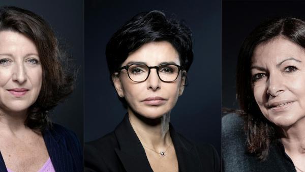 Les trois principales candidates à la mairie de Paris, de gauche à droite, Agnès Buzyn, Rachida Dati et Anne Hidalgo.