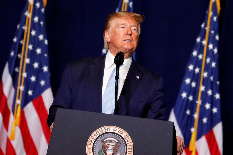 Donald Trump, Presidente norte-americano.