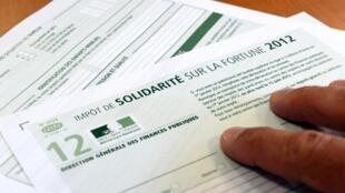 Impôt de solidarité sur la fortune 2012 (Image d'illustration).