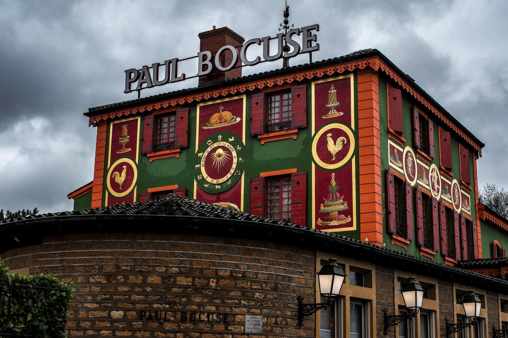O restaurante de Paul Bocuse, localizado na cidade francesa de Collonges-au-Mont-d'Or, no sudeste da França.
