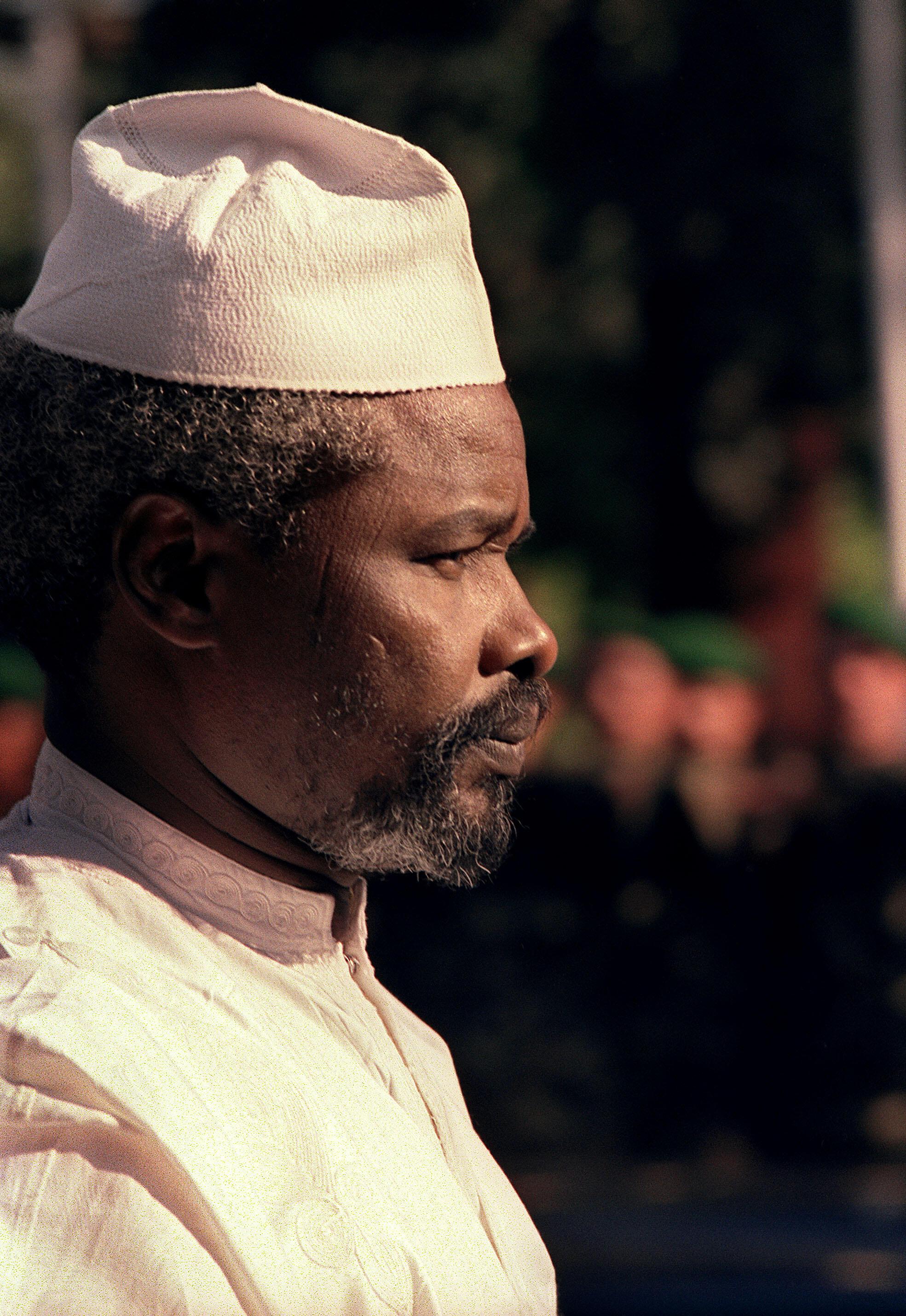 Picha ya Hissene Habre, iliopigwa mwaka 1988 wakati wa mkutano kati ya Ufaransa na nchi za Afrika mjini Casablanca.