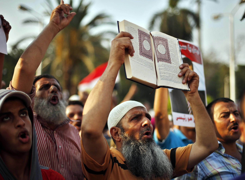 Người ủng hộ Tổng thống bị lật đổ Morsi biểu tình tại Cairo, Ai Cập ngày 09/07/2013