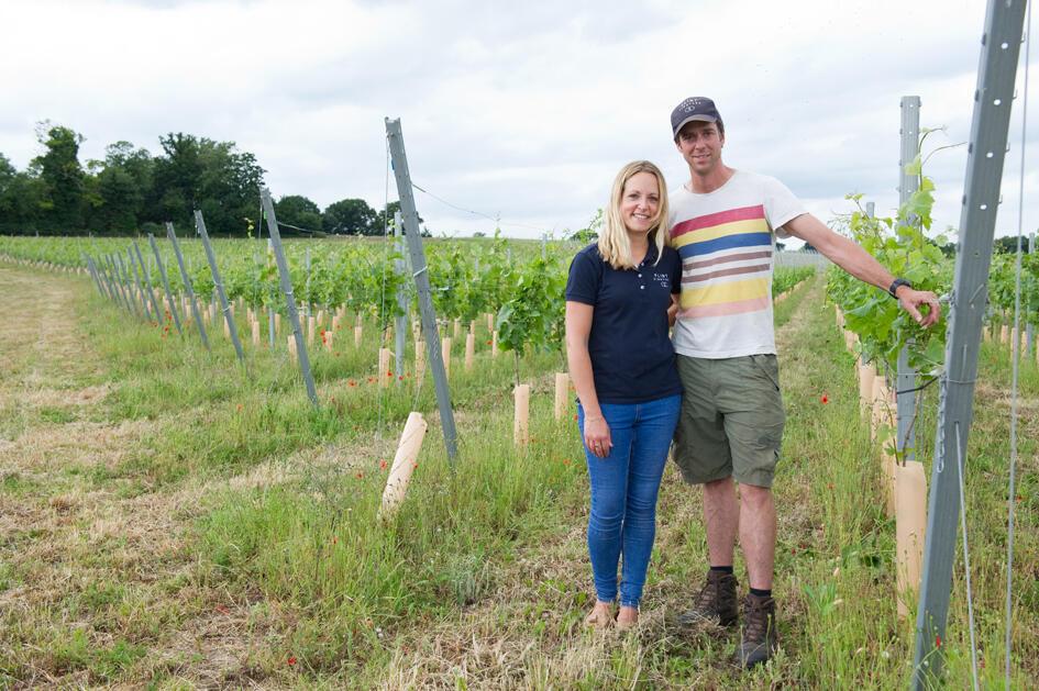 Ben Witchell et son épouse Hannah ont décidé d'abandonner leurs carrières dans l'informatique et le tourisme pour créer leur propre domaine viticole, Flint Vineyard, en 2015.