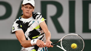 Jannik Sinner won for just the second time in the main draw of a Grand Slam
