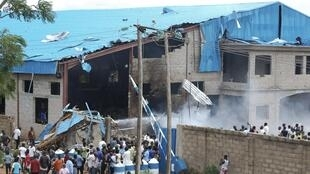 One of the churches in Kaduna, Nigeria that was bombed on 17th April
