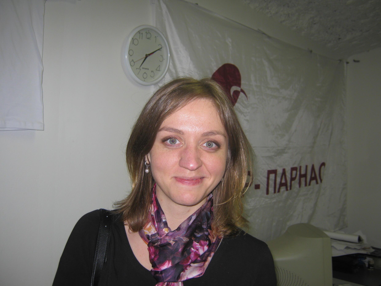 Сопредседатель петербургского отделения ПАРНАС  Наталья Грязневич
