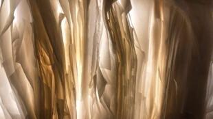 Les feuilles de soie de Joël Andrianomearisoa.