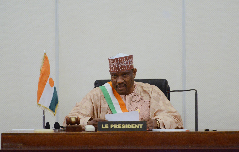 Hama Amadou, wakati huo alipokuwa Spika wa Bunge la Niger, Novemba 6, 2013 mjini  Niamey.